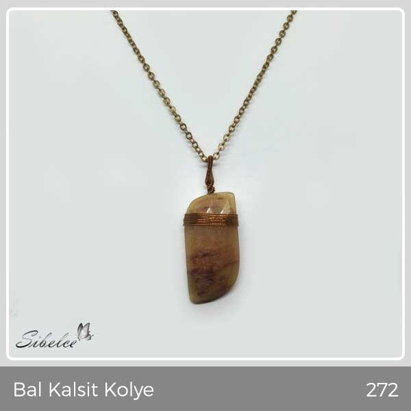 Bal Kalsit Kolye