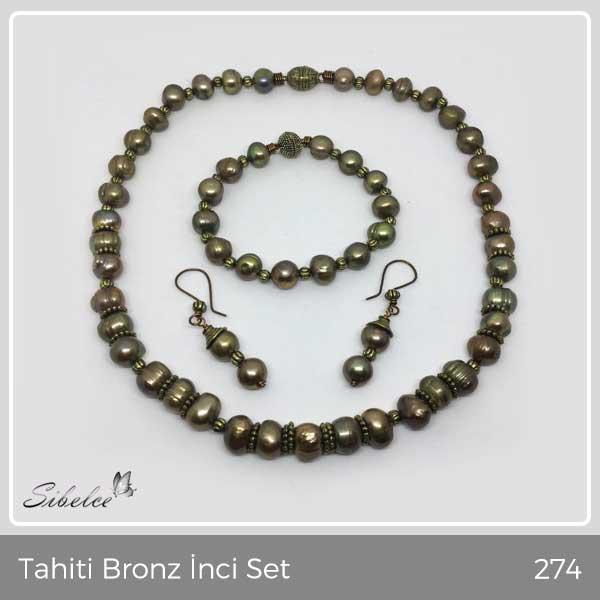 Tahiti Bronz İnci Set