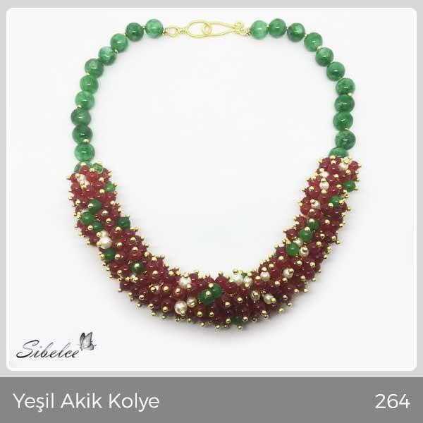 Yeşil Akik Kolye